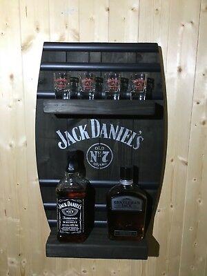 Jack Daniels Barrel Wall Shelf ,pub Bar Man Cave Gift Whisky bottle display