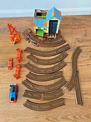 Thomas the Train Logging Adventure Station and Brown Tracks Engine 14 piece lot