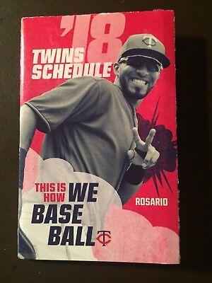 Minnesota Twins 2018 Mlb Pocket Schedule   Eddie Rosario
