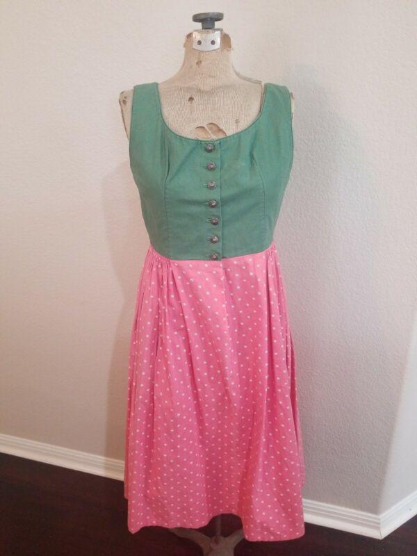 Vintage Oktoberfest Dirndl Dress, Medium