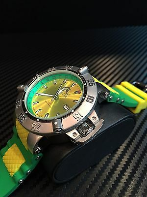 INVICTA MEN'S 10992 GMT YELLOW GREEN VERY LIMITED EDITION PUPPY WATCH