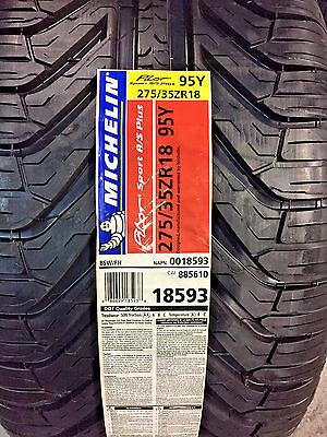 2 New 275 35 18 Michelin Pilot Sport A S Plus Tires