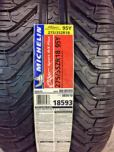 2 New 275 35 18 Michelin Pilot Sport A/S Plus Tires