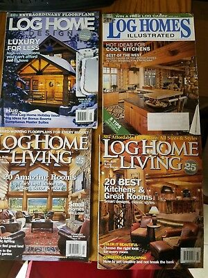 LOG HOME MAGAZINES Set of 4
