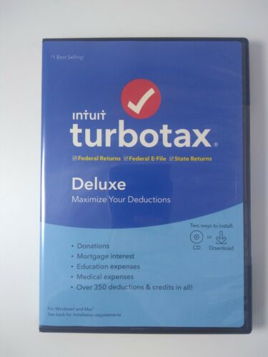 Intuit TurboTax Deluxe 2019 Federal + State - Sealed Turbo Tax