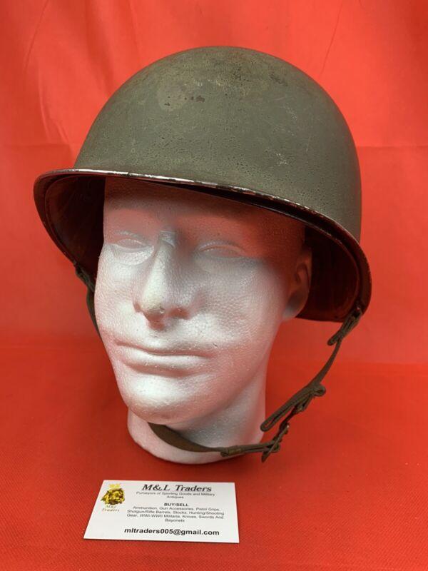Original WW2 M1 Helmet USGI American Front Seem Fixed Bails