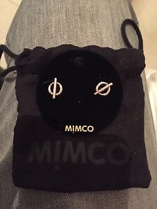 Genuine Mimco Rose Gold Stud Earrings Baulkham Hills The Hills District Preview