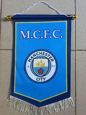 Manchester City FC flag Logo Us Football Soccer League Team Club Emblem Decor