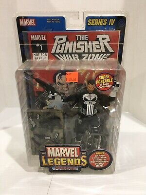 Marvel Legends Series 4 Punisher Figure 2003 Toy Biz New In Box Series IV
