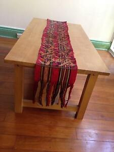 Red hand woven and embroidered  Mexican Mayan table runner South Coogee Eastern Suburbs Preview