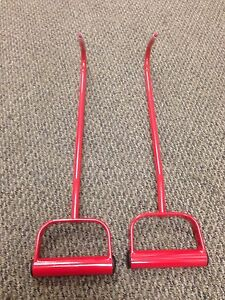 17in Long Hay Bale Hook Metal & Wood Farm Tool PAIR