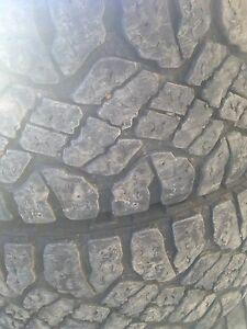 Set of used 17 inch truck tires