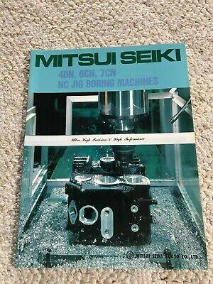 Mitsui Seiki 4dn 6cn 7cn Nc Jig Boring Machine Sales Catalog