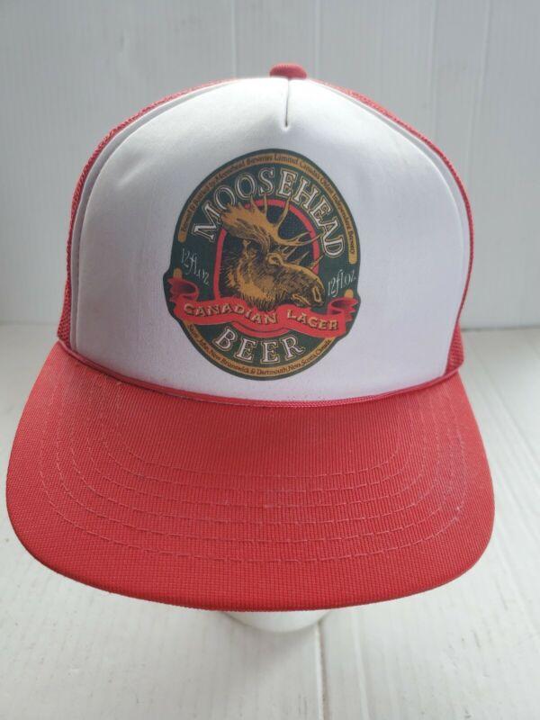 Vintage Moosehead Beer Canadian Lager Hat  Mesh Trucker Snapback Adjusts