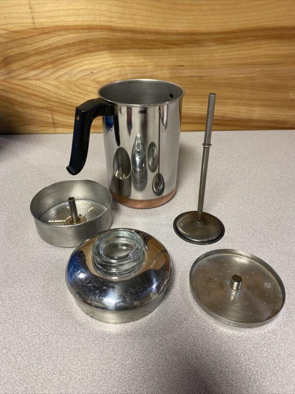Vintage REVERE WARE Coffee Percolator 6 Cup Copper Clad 2363973 Pre 68