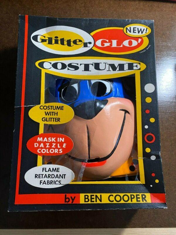 """Vintage BEN COOPER Halloween Masks: Huckleberry Hound and """"Space man"""""""