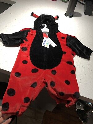 Brand New Miniwear Lady Bug Halloween Costume Size 3 To 6 Months Baby Infant - 3 To 6 Month Halloween Costumes