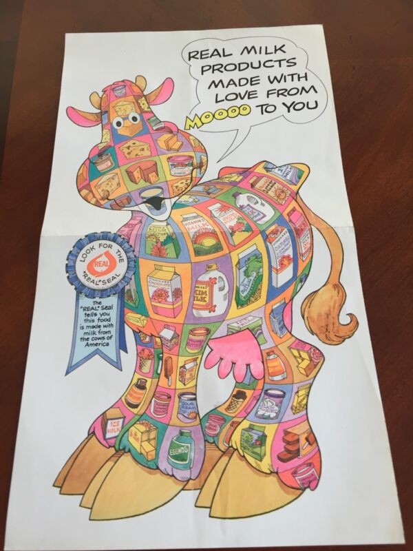 VINTAGE COLORFUL National Dairy Council Poster Copyright 1981 16X9
