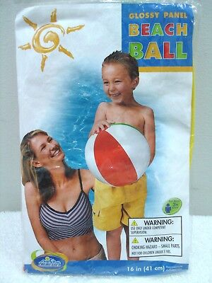 The Wet Set  Glossy Panel Beach & Pool Ball 16-Inches