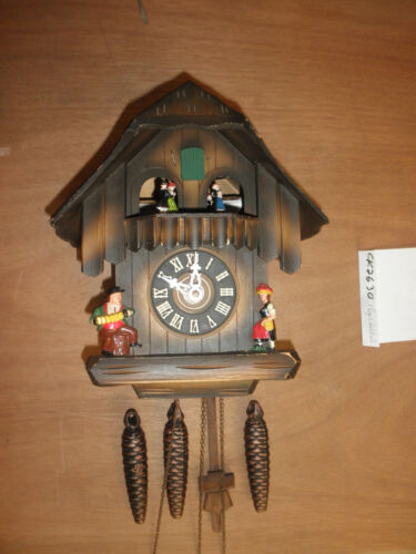 Cuckoo Clock German Black Forest working SEE VIDEO Musical Chalet 1 Day CK2630