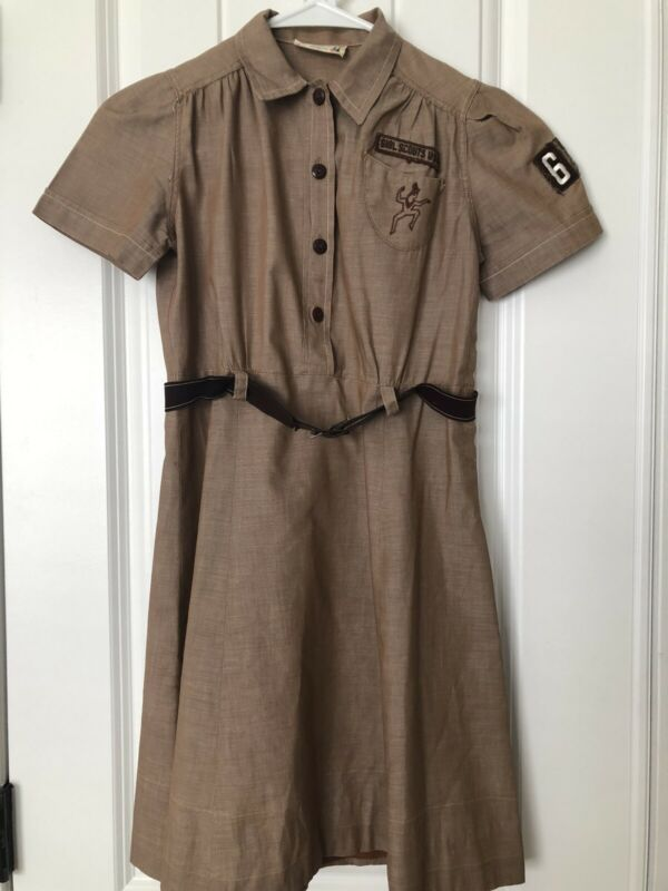 Vintage 1950's Brownie Girl Scout Dress