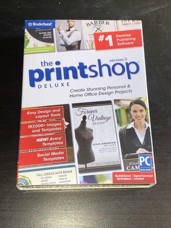 Broderbund Printshop Deluxe Version 5 Desktop Publishing Software PC New in Box