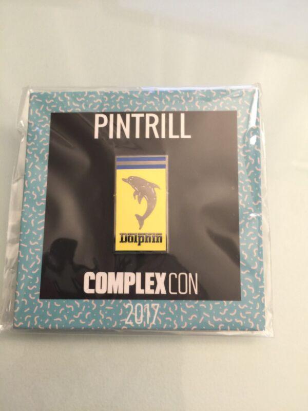 RARE Complexcon 2017 Exclusive Pintrill Pink Dolphin x Ferrari Pin