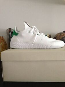 Pharrell williams hu tennis in white and green brand new size 8