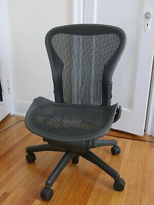 Herman Miller Armless Aeron Office Chair Size B Black