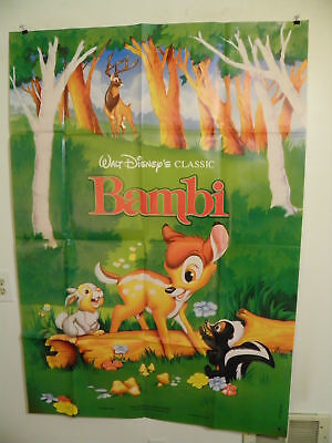 BAMBI Walt Disney Animation French Grande movie poster 47x63 1993