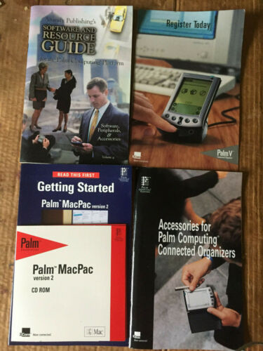 Palm accessory booklet (III V VII), MacPac booklet CD, Software Resource Guide