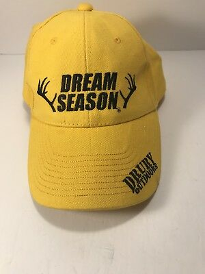 783bb6eb108a4 Drury Outdoors Dream Season Hunting Yelloe Strapback Baseball Cap Hat