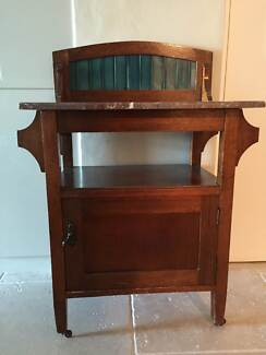 Antique marble topped washstand McMahons Point North Sydney Area Preview