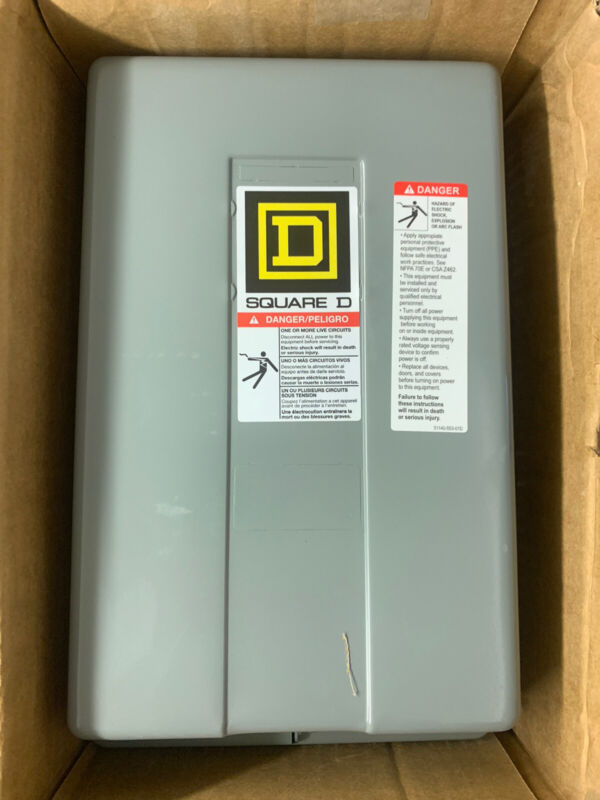 8903LG20V02 Square D 30 Amp 120V Coil 2 Pole Lighting Contactor New