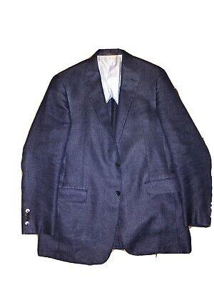 Hickey Freeman Beacon 42L Blazer Sport Coat Linen/Wool