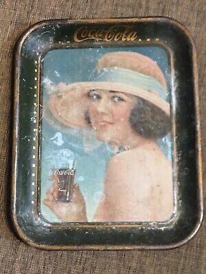 Authentic 1921 COCA-COLA Summer Girl SERVING TRAY Original VINTAGE
