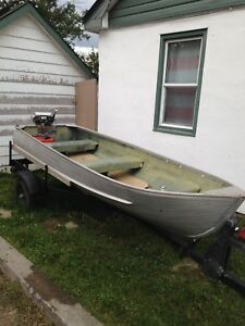 9.5 evinrude boat and trailer