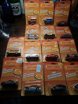 Lesney matchbox lot of 14 mint 1980s matchbox cars in original blister card