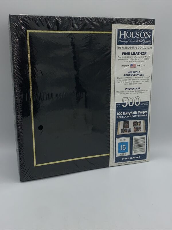Holson The Presidential Collection Photo Album Vintage Holds 500 Photo BLPB-100