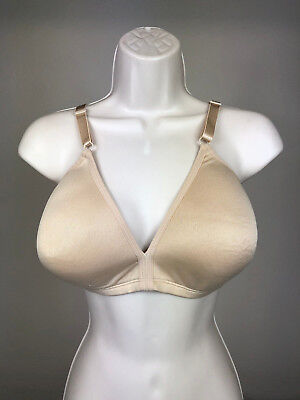 (Fruit of the Loom Bra 38DD Soft Support FT488 Beige Polyester Smooth Cups  L3a)