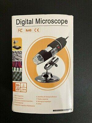 Digital Microscope Magnification 1000x Usb. Black. Windowmaclinux
