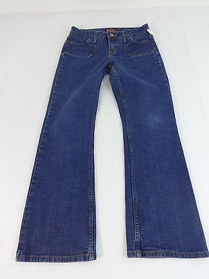 LEVIS 515 WOMENS JEANS BOOT CUT MID RISE DARK WASH JEANS SIZE 6P
