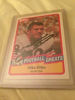 - Mike Ditka HOF VINTAGE HAND SIGNED 1989 Swell Card w/COA