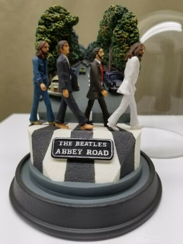 Beatles Abbey Road Franklin Mint Glass Dome Music Box 1995 Apple Limited Edition