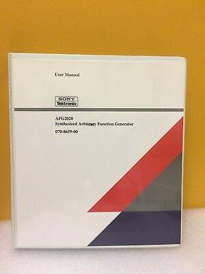 Tektronix 070-8659-00 Afg2020 Synthesized Arbitrary Function Generator Manual