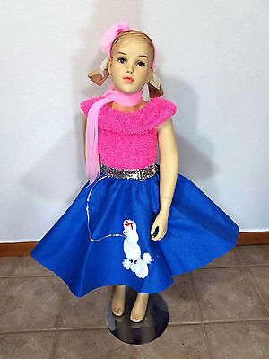 Sock Hop Dance Costume Poodle Skirt & Top Grease Clearance Child Medium & Large - Grease Girl Outfits
