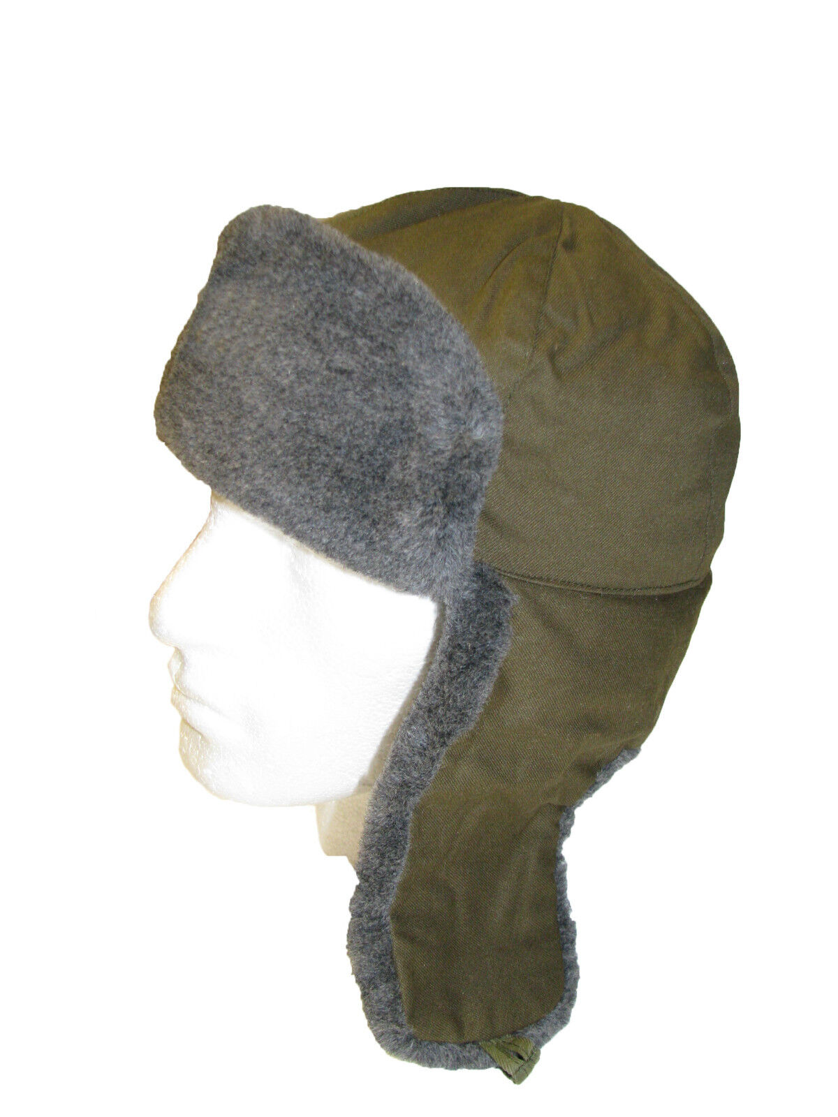 2c4ee6a55 Details about Genuine CZECH Army M85 Winter Grey Fur Olive Trapper Ushanka  Hat