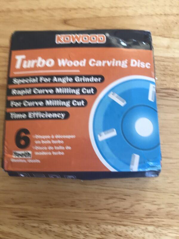 "kowood Turbo wood carving Disc 6 teeth 4"" Ea"