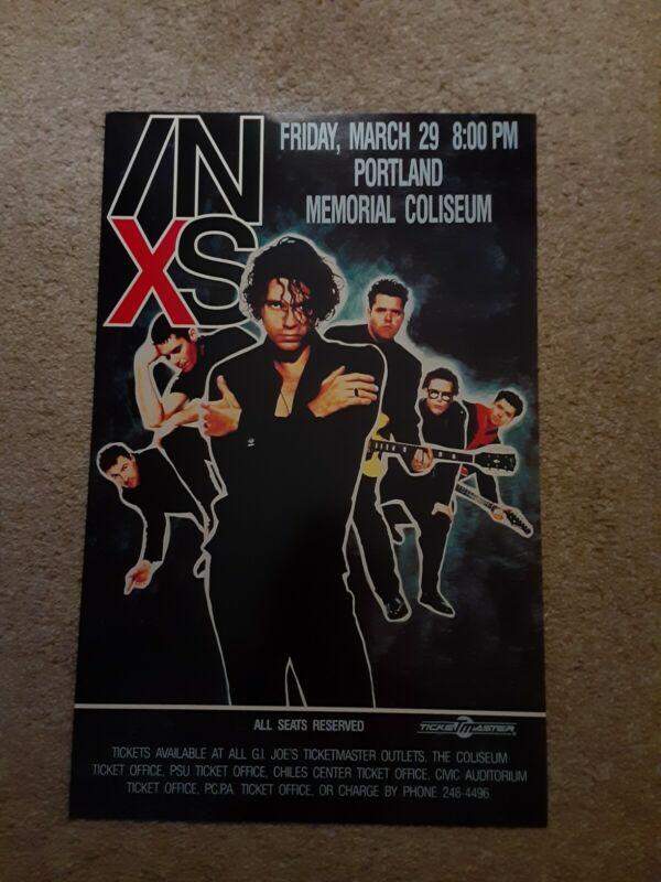 Inxs Concert Poster