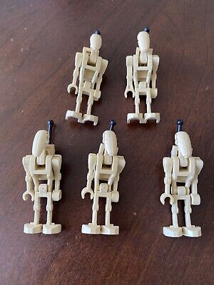 Lego Star Wars 5x Battle Droid With Backpack Minifigures Lot